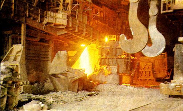 Возникновение пламени в металлургических печах